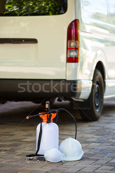 Járda szolgáltatás biztonság furgon spray védelem Stock fotó © wavebreak_media