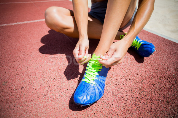 женщины спортсмена кроссовки работает трек женщину Сток-фото © wavebreak_media