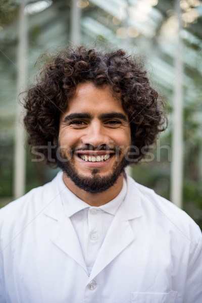 Homme scientifique effet de serre portrait permanent homme Photo stock © wavebreak_media