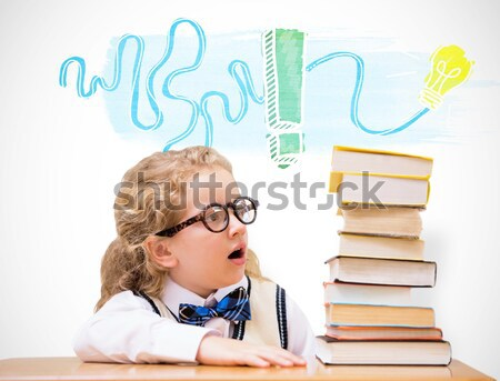 Thoughtful schoolkid pretending to be a teacher in classroom Stock photo © wavebreak_media
