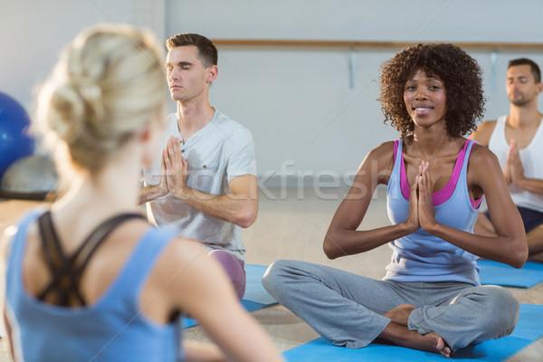 инструктор йога класс фитнес студию Сток-фото © wavebreak_media