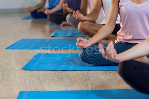 Gruppe Menschen Yoga Fitnessstudio Fitness Ausübung Stock foto © wavebreak_media