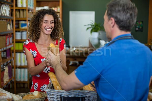 男性 スタッフ パン 女性 スーパーマーケット ビジネス ストックフォト © wavebreak_media