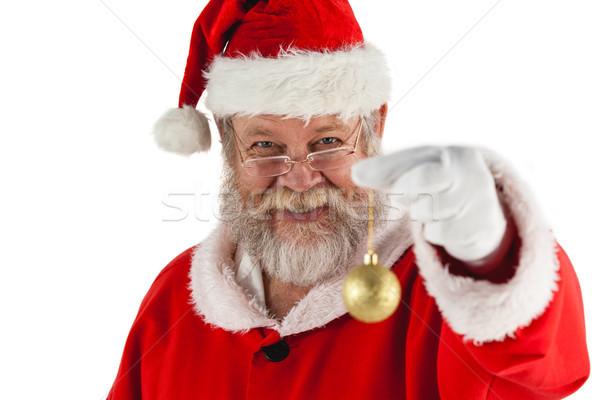 サンタクロース クリスマス 安物の宝石 幸せ 白 ストックフォト © wavebreak_media