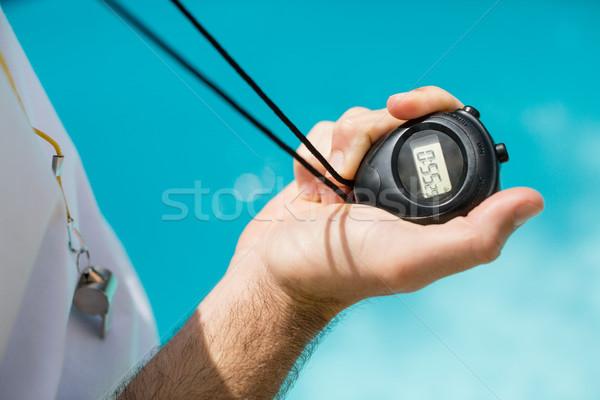 Nadar entrenador cronógrafo Foto stock © wavebreak_media