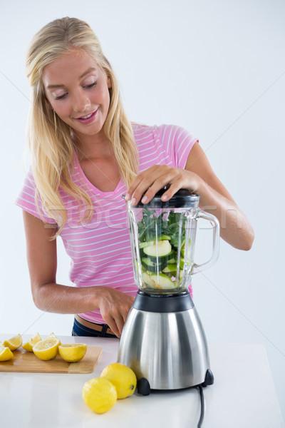 женщину растительное льстец продовольствие здоровья кухне Сток-фото © wavebreak_media