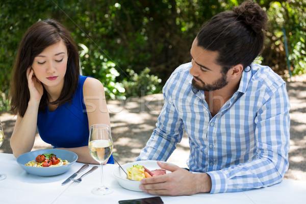 çift ilişki zorluklar restoran adam et Stok fotoğraf © wavebreak_media