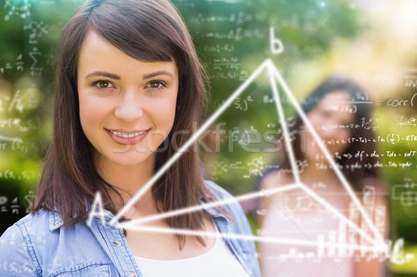 Görüntü matematik kadın mutlu öğrenci Stok fotoğraf © wavebreak_media