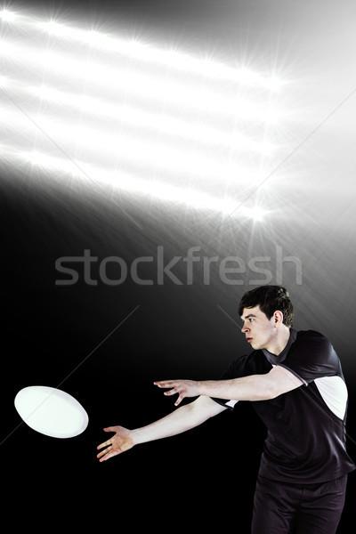 Imagem rugby jogador lado Foto stock © wavebreak_media