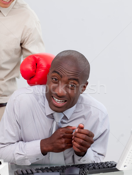 üzletember üzlet kéz munka igazgató munkás Stock fotó © wavebreak_media