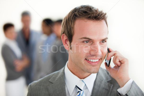 Assertive businessman on phone Stock photo © wavebreak_media