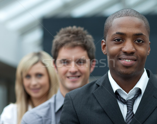 Portrait of an Afro-American businessman leading his team Stock photo © wavebreak_media