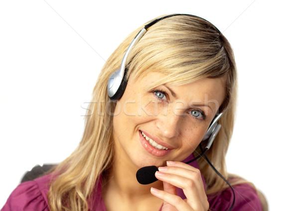 Business woman mówić zestawu młodych kobieta interesu działalności Zdjęcia stock © wavebreak_media