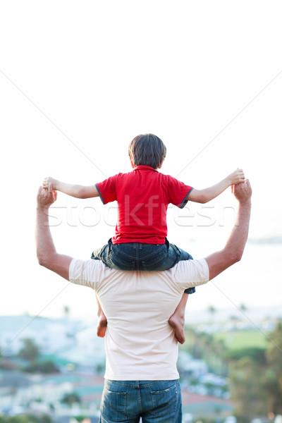 Father giving son piggyback ride Stock photo © wavebreak_media