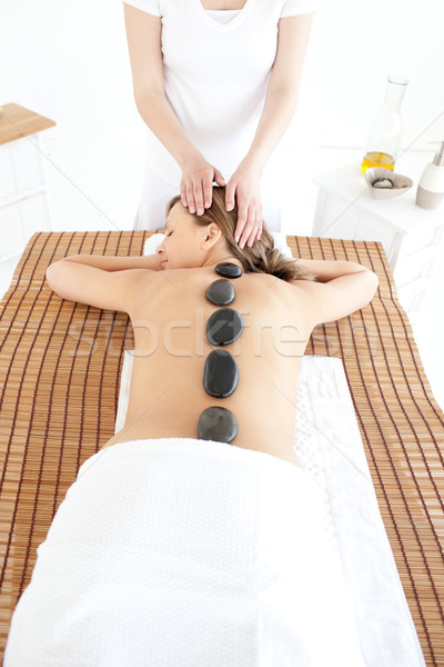 Bright woman having a massage Stock photo © wavebreak_media