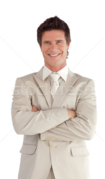 Portrait of a caucasian manager looking at the camera isolated on a white background Stock photo © wavebreak_media