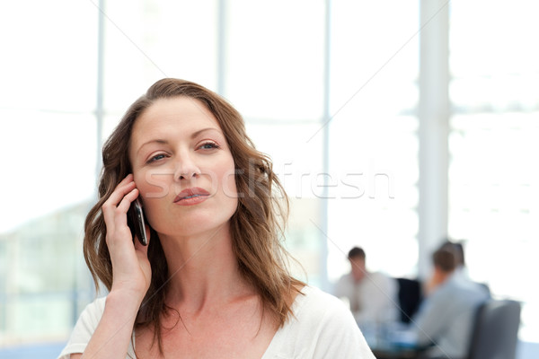 Attractive businesswoman on the phone while her team is working in the background Stock photo © wavebreak_media