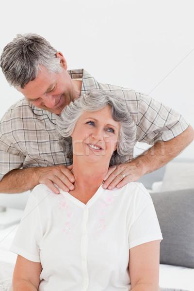 отставку человека массаж жена домой женщину Сток-фото © wavebreak_media
