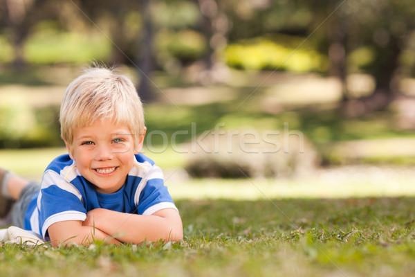 мальчика парка саду лет области Сток-фото © wavebreak_media