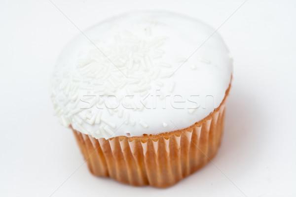 White cupcake against a white background Stock photo © wavebreak_media