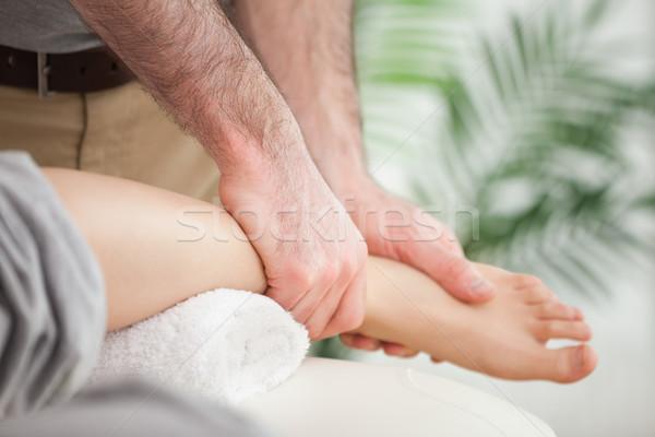 Közelkép láb orvos szoba kezek orvosi Stock fotó © wavebreak_media