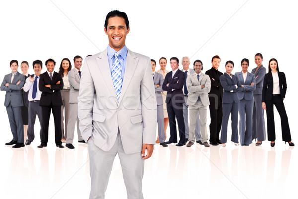 Foto stock: Empresario · sonriendo · blanco · gente · de · negocios · equipo · ejecutivo