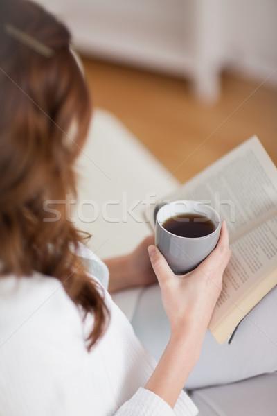 высокий мнение женщину кружка кофе Сток-фото © wavebreak_media