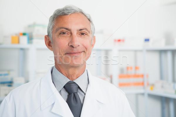 Vegyész visel laborköpeny kórház orvos gyógyszer Stock fotó © wavebreak_media