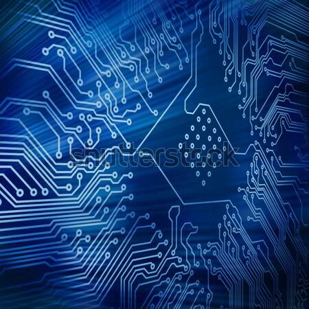 Mavi teknoloji dijital teknoloji soyut arka plan devre kartı Stok fotoğraf © wavebreak_media