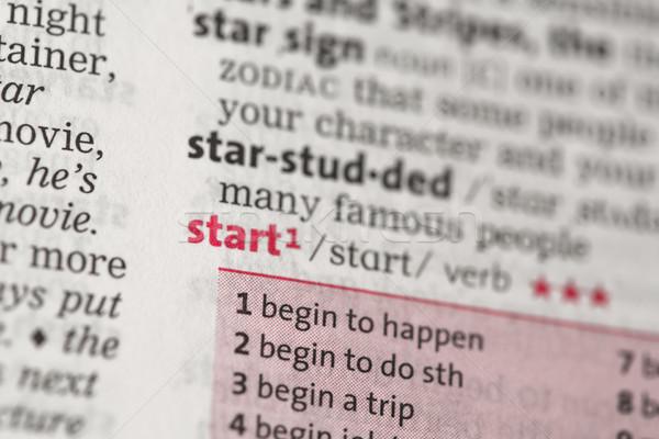начала определение словарь звезды красный концепция Сток-фото © wavebreak_media