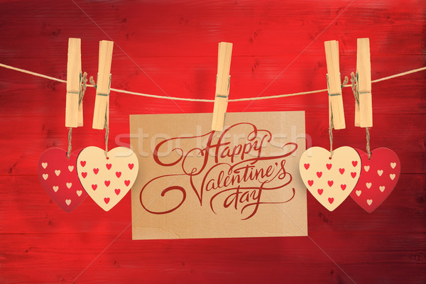 Stock photo: Composite image of happy valentines day