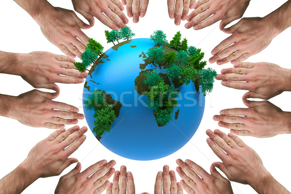 Composite image of circle of hands Stock photo © wavebreak_media