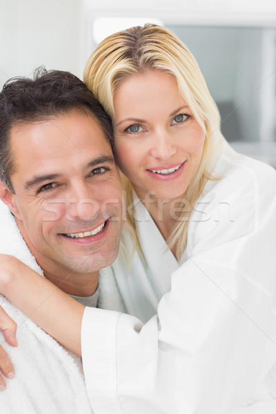 Closeup portrait of a woman embracing man Stock photo © wavebreak_media