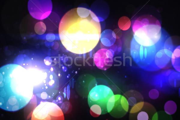 Cool vie nocturne design différent couleurs fête Photo stock © wavebreak_media