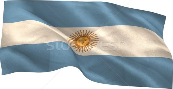 Cyfrowo wygenerowany Argentyna banderą biały Zdjęcia stock © wavebreak_media