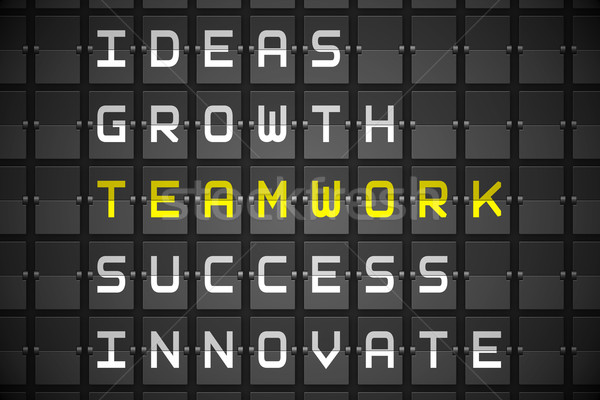 Teamwork buzzwords on black mechanical board Stock photo © wavebreak_media
