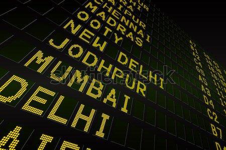Preto aeroporto partidas conselho digitalmente gerado Foto stock © wavebreak_media