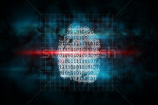 Digital security finger print scan Stock photo © wavebreak_media