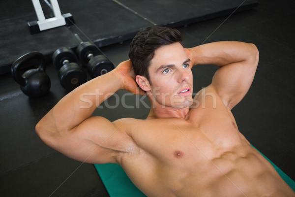 Kas adam karın spor salonu görmek Stok fotoğraf © wavebreak_media