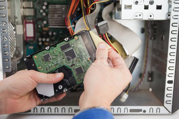 Számítógép mérnök dolgozik törött processzor iroda Stock fotó © wavebreak_media