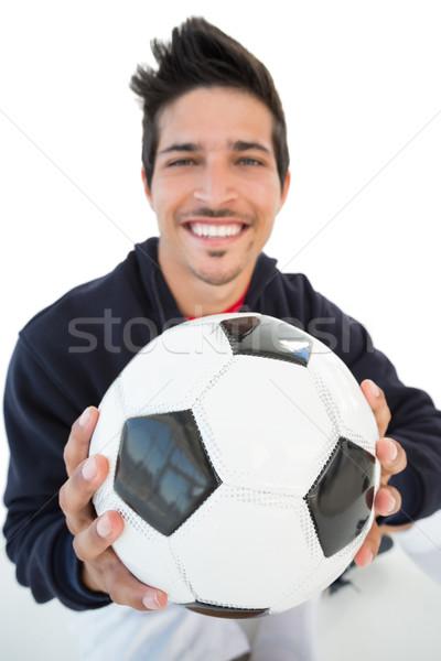 Uśmiechnięty przystojny piłka nożna fan portret Zdjęcia stock © wavebreak_media
