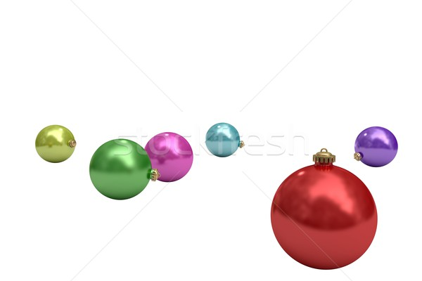 Digitally generated colourful christmas baubles Stock photo © wavebreak_media