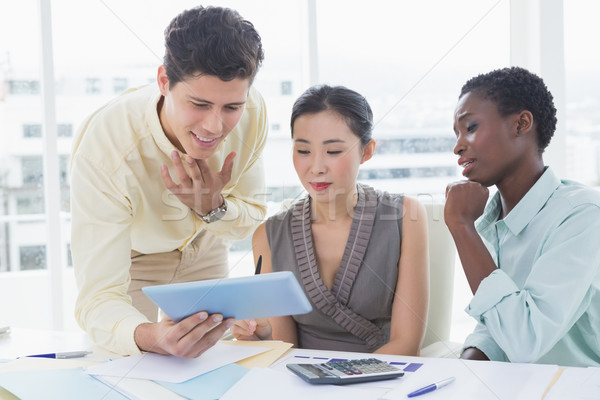 бизнес-команды заседание Creative служба женщину Сток-фото © wavebreak_media