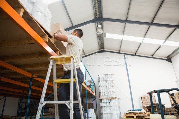 Warehouse worker loading up pallet Stock photo © wavebreak_media
