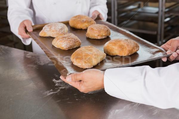 Takım ekmek mutfak fırın iş Stok fotoğraf © wavebreak_media