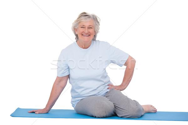 Senior vrouw glimlachen oefening vrouw gelukkig fitness Stockfoto © wavebreak_media