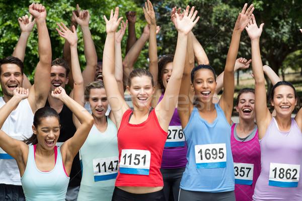 соответствовать люди гонка парка женщину Сток-фото © wavebreak_media