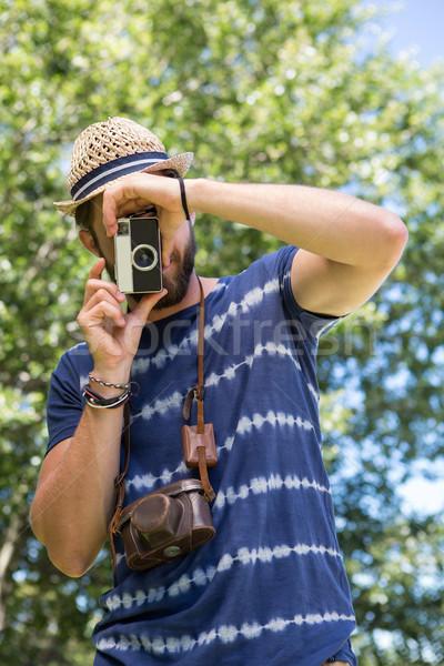 красивый человека природы лет Сток-фото © wavebreak_media