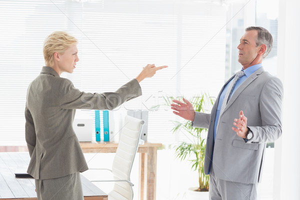 Сток-фото: деловая · женщина · из · Boss · служба · женщину · костюм