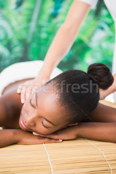 Pretty woman indietro massaggio donna Foto d'archivio © wavebreak_media